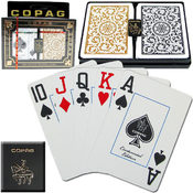 CopagT Poker Size JUMBO Index - 1546 Black*Gold Wholesale Bulk