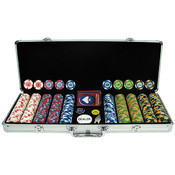 500 PaulsonR Tophat &amp;amp; Cane Clay Poker Chips w/Alum