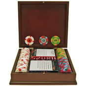 100 PaulsonR Tophat & Cane Clay Poker Chips w/Wood