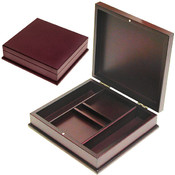 100 Capacity Mahogany Chip Case