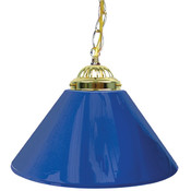 "Plain Blue 14"" Single Shade Bar Lamp"