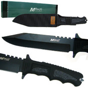 Covenant Covert Black Blade Survival Knife w/sheat