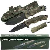Rite Edge Stainless Steel Military Combo Set
