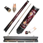 OLD WESTERN SALOON 2 pc Pool Cue Stick with Case