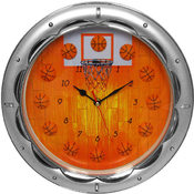 13 Inch Basketball Wall Clock - Quartz Movement