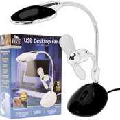 BLACK 2 in 1 Laptop Desk LED Lamp and Fan