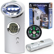 Journey's Edge LED Torch Light w/Alarm Clock Wholesale Bulk