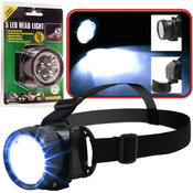 Super Bright 5 LED Headlamp w / Adjustable Strap