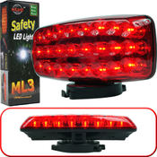 ML3 Series 24 LED Safety Light w/Magnetic Base Red
