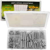 200 Piece Steel Spring Shop Assortment -Zinc Plate