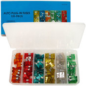 Mini Auto Fuse Assortment - 120 Blade Type - 5 to