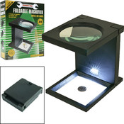 Tools Foldable Magnifier w/3 LED Lights