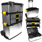 Massive & Mobile 3-part Stainless Steel Tool Box