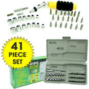41 Piece Professional Screwdriver Bit &amp;amp; Socket Set