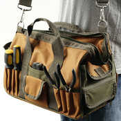 Rugged Nylon Multi Pocket Tool Bag Wholesale Bulk