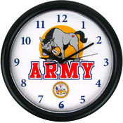 Deluxe Chiming US Army Clock Featuring Mule Mascot