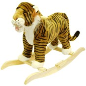 HAPPY TRAILST Tiger Plush Rocking Animal