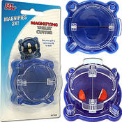 Magnifying Pill Cutter - Blue