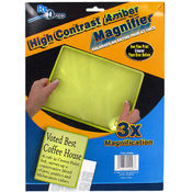 High Contrast Amber Magnifier - 3X Magnification