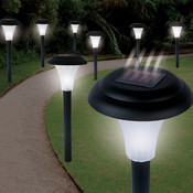 Set of 8 Bright Solar Accent Lights - Cordless