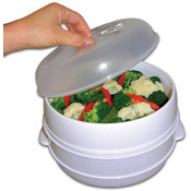 2 Tier Microwave Steamer Food Cooker - As Seen on