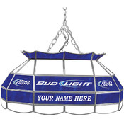 Customized Bud Light 28 inch Stained Glass Pool Ta