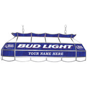Customized Bud Light 40 inch Stained Glass Pool Ta