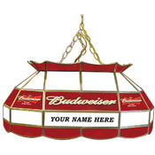Customized Budweiser 28 inch Stained Glass Pool Ta