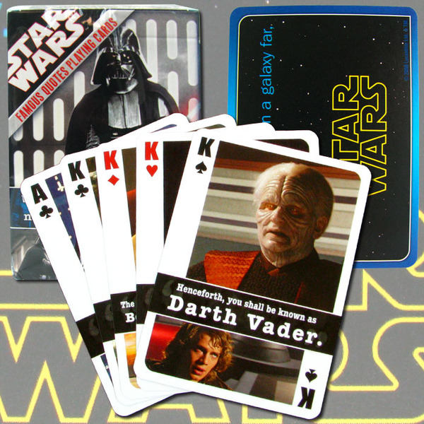 star wars quotes. Wholesale Star Wars Famous Quotes Playing Cards - One Deck
