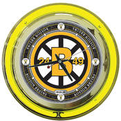 NHL Vintage Boston Bruins Neon Clock - 14 inch Dia