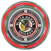 NHL Vintage Chicago Blackhawks Neon Clock - 14 inc