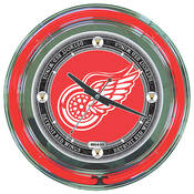 NHL Vintage Detroit Redwings Neon Clock - 14 inch
