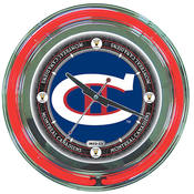 NHL Vintage Montreal Canadiens Neon Clock - 14 inc