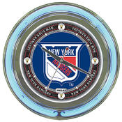 NHL Vintage New York Rangers Neon Clock - 14 inch