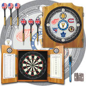 NHL Vintage Original Six Teams Dart Cabinet with A
