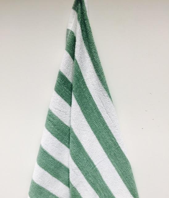 ''Oxford Cabana Pool/BEACH TOWEL - Green Stripe 30'''' x 60'''' [1949222]''