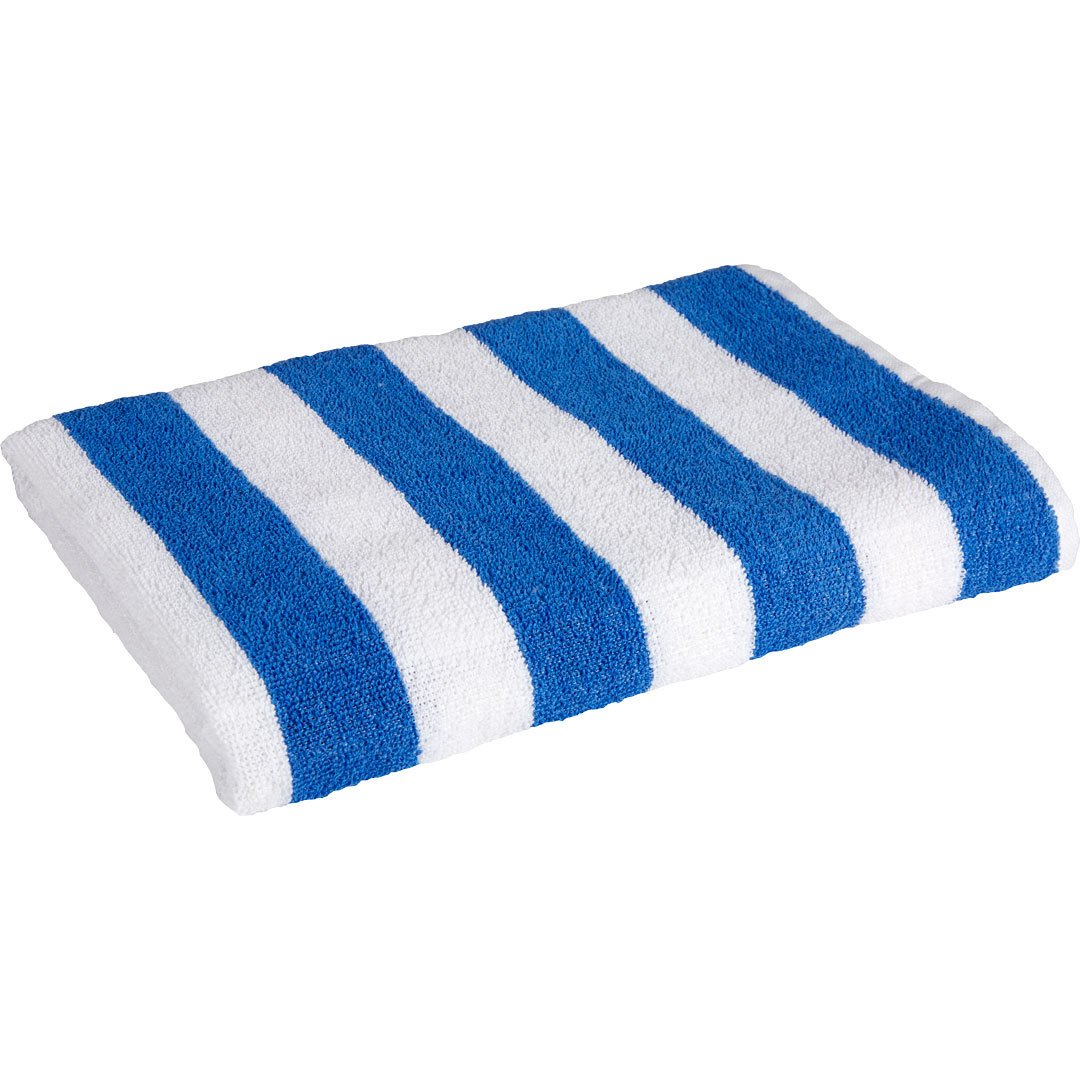 ''Oxford Cabana Pool/BEACH TOWEL - Blue Stripe 30'''' x 70'''' [1949225]''