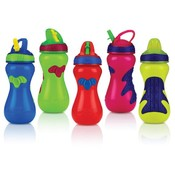 Nuby Gator Grip Sports Bottle With Flip-It Top