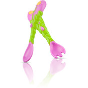 3-D Flower Spoon and Fork Set
