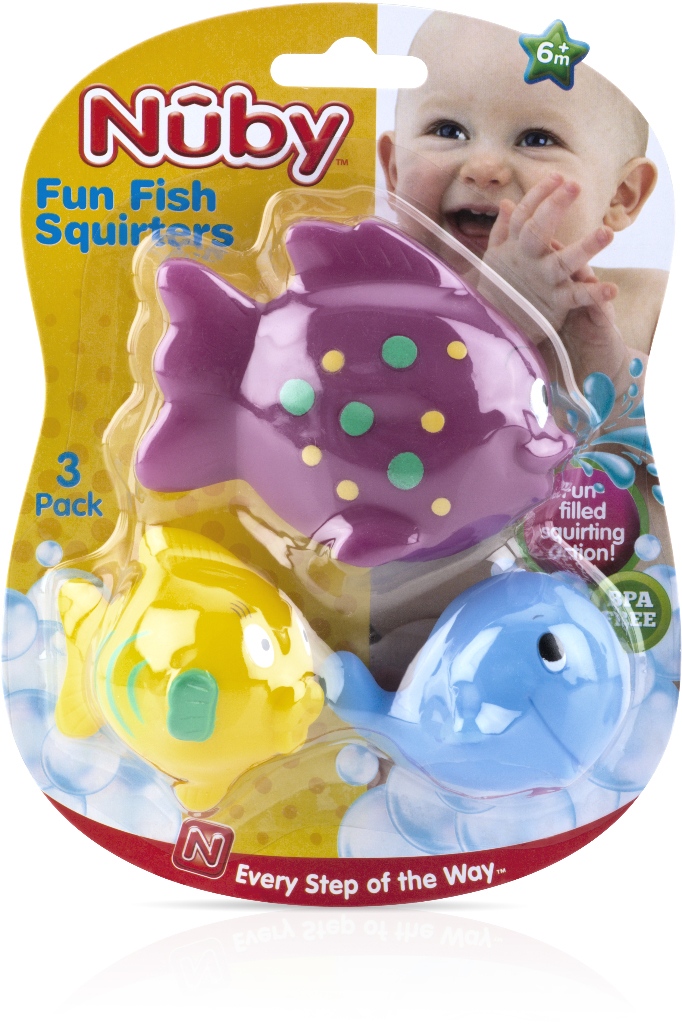 Nuby? Fun Fish Bath Squirter TOYS 3-Pack [1988336]