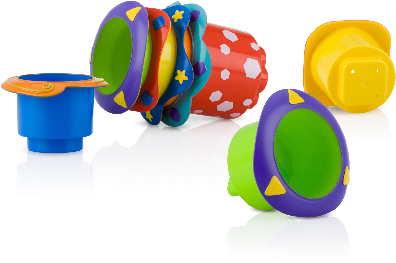 Nuby? Splish Splash Stacking Cups 5-Pack [1078115]