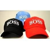 "Adjustable Baseball Hats Caps ""I am Boss"""