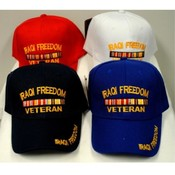 Adjustable Baseball Hat Caps Iraqi Freedom Veteran