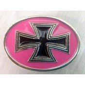 Wholesale Hot Pink and Black Cross Belt Buckle