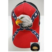 Rebel Flag w/ Eagle Baseball Hats