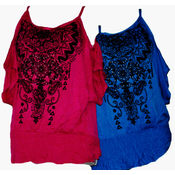 Juniors Rhinestone Shirts -Assorted Colors & Sizes