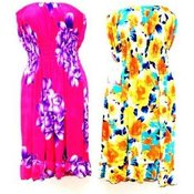 Tube Style Floral Dresses Summer Dresses