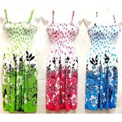 Polka Dot Design Floral Dresses