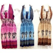 Cultural Printed Short Dresses