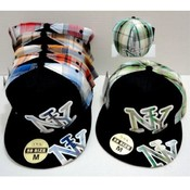 New York Plaid Fitted Baseball Hats